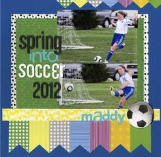 Soccer Scrapbook Layouts | soccer layout