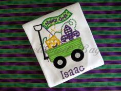 Mardi Gras Wagon Appliqued Tshirt for Boys or by EmbellishedBayou, $24.00