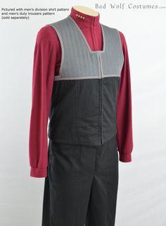 Star Trek DS9/NEM Mens Captain Vest Sewing Pattern by BadWolfCostumes