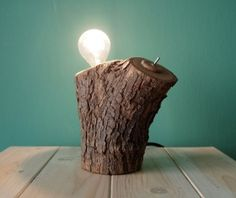 THE LOG wooden desk lamp