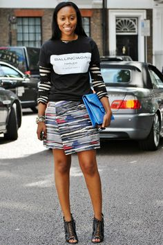 30+ Daring Style Snaps Straight From London #refinery29  http://www.refinery29.com/london-fashion#slide29  CR Fashion Book's Shiona Turini in Balenciaga.Photographed by Melanie Galea
