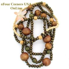 Wood Beads Four Corners USA OnLine Jewelry Making Beading Craft Supplies