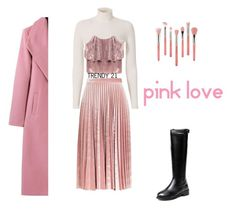 """""""Pink Love in Winter"""" by trendy21com on Polyvore featuring A.L.C., Topshop and Bdellium Tools"""