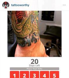 VOTE NOW ON THIS TATTOO! @tattooworthy.com