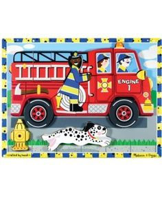 Melissa and Doug Kids Toy, Fire Truck Chunky Puzzle - Multi