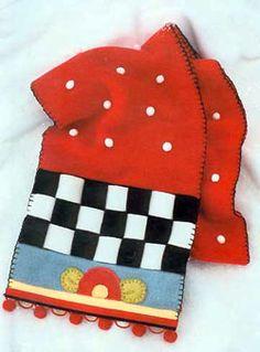 Mary Engelbreit fleece scarf