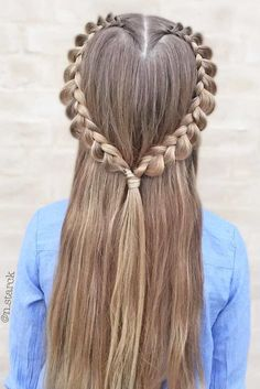 diy hairstyles for school Valentine's Day Hairstyles, Ethnic Hairstyles, Back To School Hairstyles, Little Girl Hairstyles, Curled Hairstyles, Trendy Hairstyles, Short Haircuts, Natural Hair Styles, Short Hair Styles