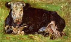 Lying Cow by Vincent Van Gogh, 1883 WikiArt.org - the encyclopedia of painting