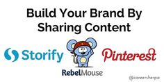 Sharing content online a great brand-building strategy. Here are 3 tools to improve your online visibility.
