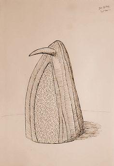 Vicente Torres Noguera Serie Pajaritos - Pájaro exhibicionista