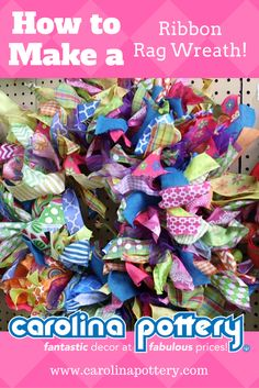 In this DIY tutorial video, we will show you how to make a beautiful rag wreath using strips of ribbon! You can cut various ribbons into strips, or us. Christmas Mesh Wreaths, Deco Mesh Wreaths, Rag Wreaths, Ribbon Wreaths, Winter Wreaths, Floral Wreaths, Spring Wreaths, Door Wreaths, Diy Bow