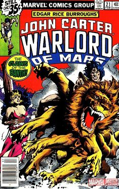 John Carter, Warlord of Mars Marvel Comic!