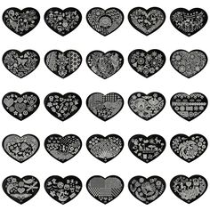 5.6*7.15cm Love Heart 3D Nail Art Stamping Plates 28 Designs Stainless Steel Polish Template 1 Pcs Stencils For Nails JH305