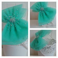 Pearls&tulle headband