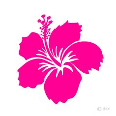 It's a free clipart image of a simple flower-only pink hibiscus. Plum Flowers, Cherry Blossom Flowers, Pink Rose Flower, Tulips Flowers, Simple Flowers, Hibiscus Flowers, Flower Art, Rose Clipart, Flower Clipart