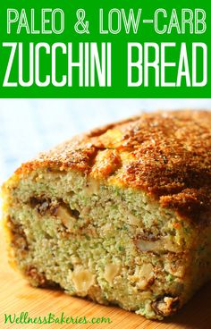 Whip up this sweet golden Paleo Zucchini Bread - with just 1 gram of sugar per delicious slice - with just 10 minutes of prep time.