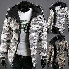 Winter Warm Men Camouflage Waterproof Hooded Male Coat Outwear Padded Jacket #Unbranded #Casual