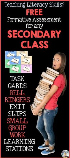 Do you teach literacy skills in your class? Then use these free task cards as formative assessment for Common Core English Language Arts (ELA) Anchor Standards for Reading.