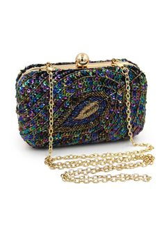 Leaf Pattern Beaded Sequined Clutch Evening Bag_Evening Bag_Women Bags_Sexy Lingeire | Cheap Plus Size Lingerie At Wholesale Price | Feelovely.com
