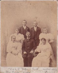 """ATLANTA PHOTOGRAPHERS - C.W. MOTES. LARGE FORMAT CABINET CARD (8x10"""") OF A GRADUATION CLASS OF 1893 OF THE WEST END ACADEMY IN ATLANTA. THE PROFESSOR IS IN THE CENTER, SEATED. ALL IDENTIFIED IN INK AT THE BOTTOM.  From the J. Fred Rodriguez Atlanta Collection."""