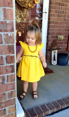 This item is unavailable Mustard fall tunic dress country boho bohemian toddler tunic by LittleMayz Casual Summer Dresses, Dresses For Teens, Trendy Dresses, Nice Dresses, Girls Dresses, Toddler Fashion, Kids Fashion, Vintage Dress Patterns, Mellow Yellow