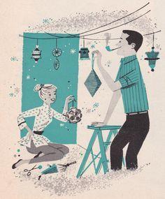 california mid century modern christmas | christmas parties vintage christmas christmas illustration 1957 full ...