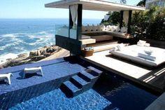 Dream villa: back yard with pool Outdoor Spaces, Outdoor Living, Outdoor Pool, Outdoor Seating, Outdoor Pavilion, Architecture Design, Piscina Interior, Belle Villa, Dream Pools