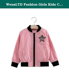 """WensLTD Fashion Girls Kids Cute Cardigan Baseball Uniform Outerwear Long Sleeve Jacket (4T, pink). Gender:Girls Clothing Length:Regular Pattern Type: Pentagram Decoration: None Sleeve Style:Regular Style:Cute Occident Material:Nylon Sleeve Length:Long Sleeve Package include:1PC Cardigan Size:2T Label Size:90 Bust:72CM/28.3"""" Sleeve:35CM/13.8"""" Length:38CM/15"""" Height:90CM Size:3T Label Size:100 Bust:76CM/29.9"""" Sleeve:37CM/14.6"""" Length:40CM/15.7"""" Height:100CM Size:4T Label Size:110..."""