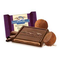 Dark & Truffle SQUARES Chocolates – Case Pack (Ghirardelli - 4% donation)