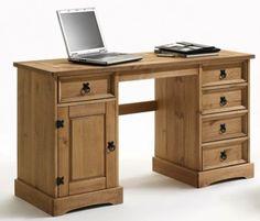 Schreibtisch Merida massivholz Pinie Landhausstil Computertisch Büro Moebel