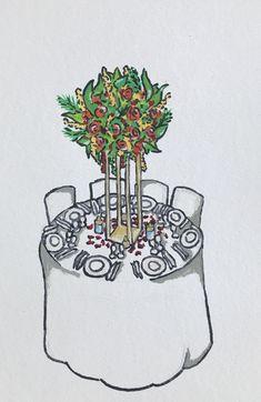 Réalisation d'un croquis de table mariage exotique #croquis #weddingdesign #weddingdecor #centerpiece Wedding Planner, Cherry, Paris, Ile De France, Sketch, Wedding Bride, Wedding Planer, Montmartre Paris, Paris France