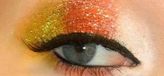 How to Create a glittery candy corn eye makeup look for Halloween « Makeup