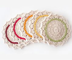 Ombre Coasters Crochet Pattern (FREE) - http://pinterest.com/Allcrochet