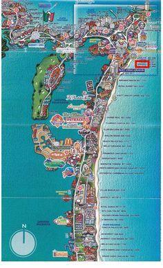 Map Of Cancun Hotel Zone Cancun Hotel Zone Map Cancun Maps Cancun Hotel Zone Map Cancun Trip Cancun Hotel Zone