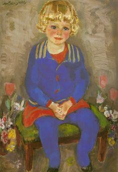 Jan Sluijters - Portret van Liesje (1928)