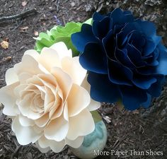 Handmade Paper Flowers Wedding Decorations by morepaperthanshoes