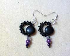Earrings to match freeform bracelet from my partner Leah Tees' soup #BeadSoupBlogParty7
