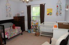 Shared nursery for a boy and girl {a tour}