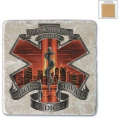 Red High Honor Ems Tribute Single Natural Stone Coasters Sku... ($9.99) ❤ liked on Polyvore featuring home, kitchen & dining, bar tools, coasters, drink & barware, drinkware, grey, home & living, drink coasters and stone coasters