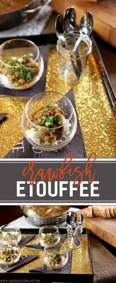 It feels like the fall, so we should make Crawfish Étouffée this weekend! This classic Louisiana entree makes a comforting meal for a chilly evening and easily doubles (or triples) to feed a crowd. Peeled crawfish tails cook low and slow with the Cajun trinity -- onion, green bell pepper and celery -- and other ingredients. Once the flavors meld, the dish is served over rice with green onions and parsley. What's not to love? #foodiefootballfans