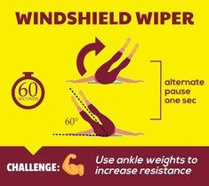 Flat Abs Workout - Windshield Wiper