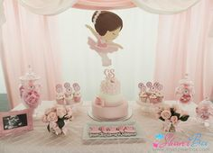 Ballerina Baby Shower Decor by ShowerBox Designs www.myshowerbox.com Follows us on FB and Instagram /showerbox