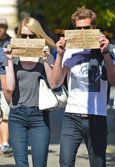 Emma Stone and Andrew Garfield | Saturday, September 152012  www.gildasclubnyc.org/www.wwo.com