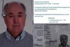 Buscan a Manuel Arroyo, vecino de Torredonjimeno desaparecido ayer