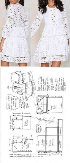 La costura ✂ los Patrones. El patrón del vestido veraniego romántico // Taika
