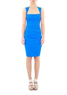 Women's Designer Clothes | Nicole Miller Official Site, NIMI-2808 FELICITY STRETCH LINEN DRESS, nicolemiller.com