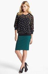 Olivia Moon Top & Halogen Pencil Skirt