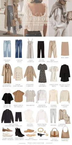 wardrobe The (Mostly) Sustainable Spring Capsule Wardrobe Wolf Stag Mode Capsule Mode inspo Spring Stag Sustainable Wardrobe Wolf Capsule Wardrobe Work, Capsule Outfits, Fashion Capsule, Wardrobe Basics, Wardrobe Staples, Fashion 2020, Look Fashion, Spring Fashion, Fashion Outfits