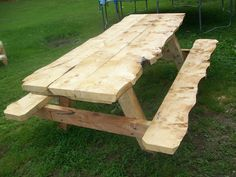 Rough Cut Lumber 6ft Picnic Table