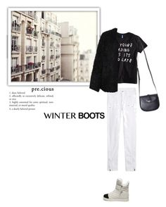 """""""Untitled #327"""" by katu11 ❤ liked on Polyvore featuring Cinque, Steve Madden, Zadig & Voltaire, LE3NO and winterboots"""